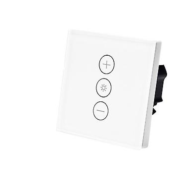 Eu /uk Wifi Smart Wall Touch Light Dimmer Switch, control remoto funciona con