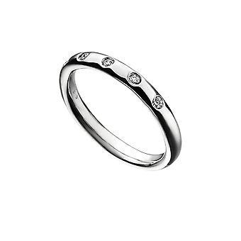 بدايات الجنيه الاسترليني الفضة دافق مجموعة زيركونيا باند حلقة R3733C