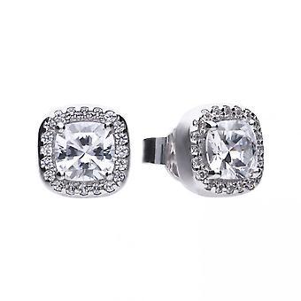 Boucles d'oreilles Diamonfire Silver White Zirconia Square E5590