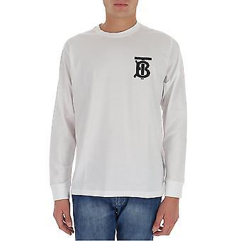 Burberry 8024600a1464 Men's White Cotton T-shirt