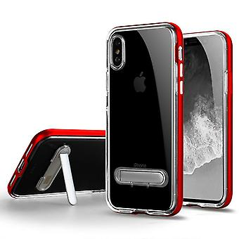 Anti-impact Case with slot for Apple iPhone X Red hesenkeji-181