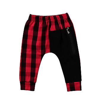 Fashion Plaid Bottom Pants Panty Harem Trousers Casual For Toddler Kids Boys