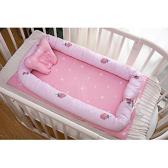 90x50cm Square Baby Nest Bed With Pillow / Travel Bed- Infant Cotton Cradle