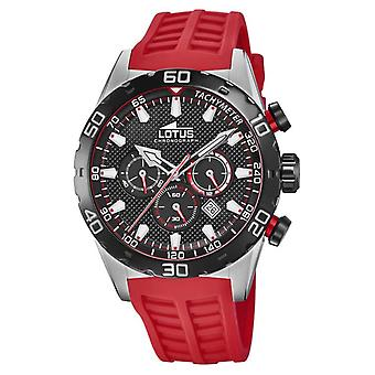 Lotus Colour | Men's Red Silicone Strap | Black Chronograph Dial L18677/6 Watch