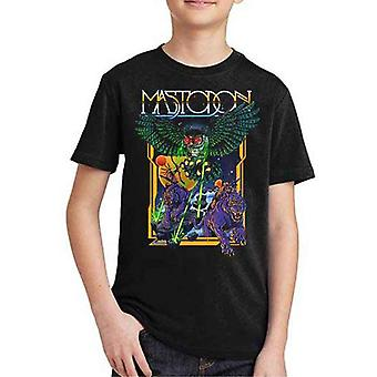 Mastodon Kids T Shirt Space Owl Band Logo new Official Black Ages 5-14 yrs