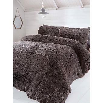 Luxury Faux Fur Bedding Duvet Cover Set