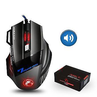 Mouse da gioco cablato ergonomico da 5500 dpi con retroilluminazione a 7 pulsanti