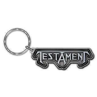 Testament Keyring Keychain Band Logo Thrash Metal new Official Metal