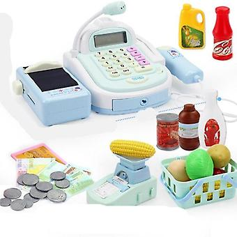 Simulation Cash Register Calculator, Cashier With Microphone And Sounds