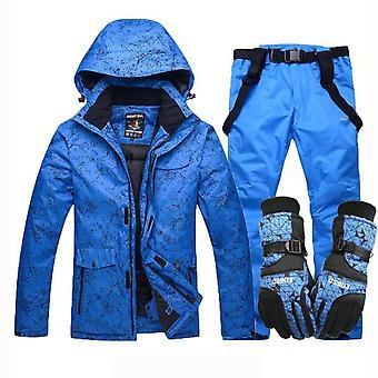 חורף עמיד, עמיד למים כפפות סקי ג'קט סנובורד מכנסיים חליפה -