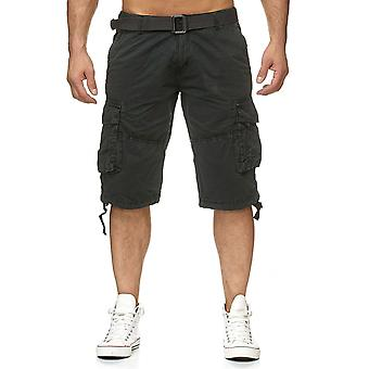 Men's Cargo Trousers Shorts Including Belt Bermuda Cotton Short Chino Outdoor