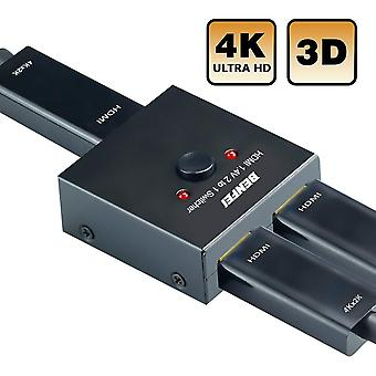 HDMI-switch 4k hdmi splitter, benfei hdmi switcher 2 ingång 1 utgång, HDMI switch splitter 2 x 1/1 x