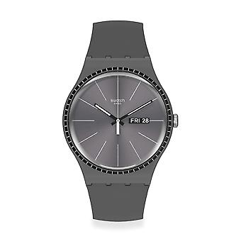 Swatch SUOM709 Grey Rails Silicone Watch