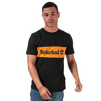 Męska koszulka z drewna i szwu w kolorze czarnym