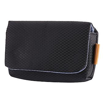 Rhombus Текстура Нейлон камера Дело сумка для Canon, Sony, Nikon, Micro Single, Цифровые камеры, Размер:12.5×7.5×4cm (черный)