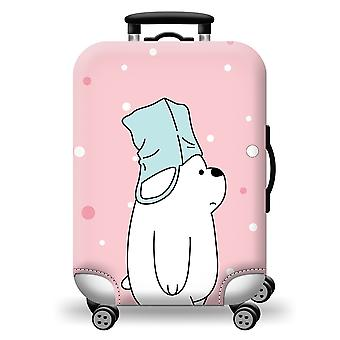 Cute Polar Bear Colorful Luggage Protector