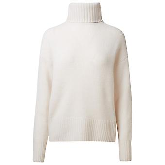 360 Cashmere 42268chlk Women's White Cashmere Sweater
