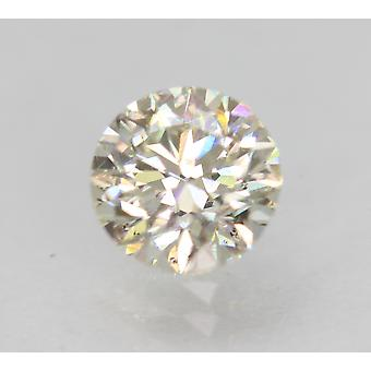 Certified 0.85 Carat I VS2 Round Brilliant Enhanced Natural Loose Diamond 5.97mm