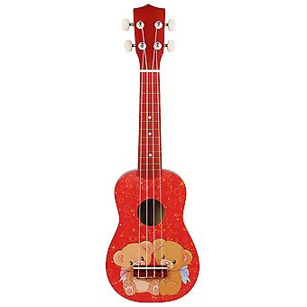 21inch Ukelele String Instruments 4 String Guitar Mini Guitar Red