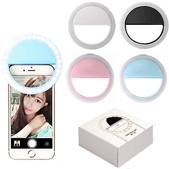 Rechargeable Led Ring Flash Light Portable Mobile Phone Lens Enhancing Light