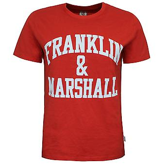 Franklin and Marshall Logo Top Short Sleeve Red Boys T-Shirt FMS0097 933
