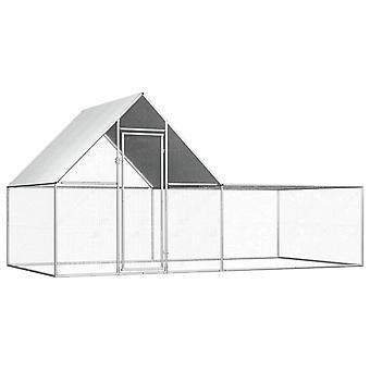 Hühnerstall 4×2×2 m Verzinkter Stahl