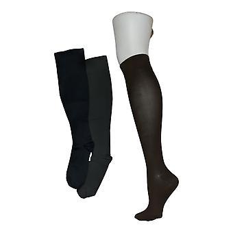 Legacy Women's M/L Graduated Compression Socks 3 Pack Brown / Blue A294527