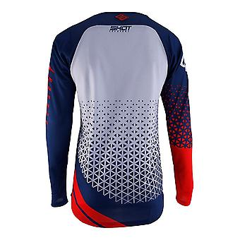 Shot Aerolite Delta Red Adults MX Jersey