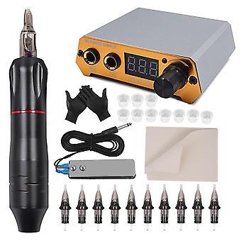 Tattoo Rotary Pen Kit Cartridges Machine Mini Power Set Studio Supplies