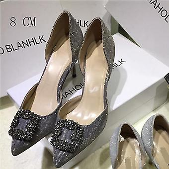 To Piece Metal Dekoration Fashion Kvinder høje hæle Pump