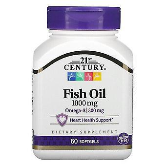 21st Century, Fish Oil, 1000 mg, 60 Softgels