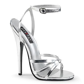 Devious Women's Shoes DOMINA-108 Silver Metallic Pu