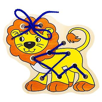 "Alatoys Wooden  Lacing ""Lion Cub"""