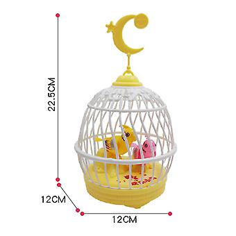 Children's Educational Toys,kids Singing And Hirping Bird In Cage Realistic Sounds