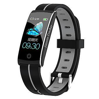 Smart Watch, Pulsmåler, Søvnmonitor, Blodtryk, Ilt, Skridttæller, Vandtæt, IP68 med Aktivitetssporing-Grå