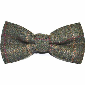 Heritage Check Moss Green Bow Tie & Set quadrato tascabile