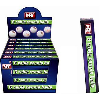 M.Y Table Tennis Balls - Pack of 6 Balls