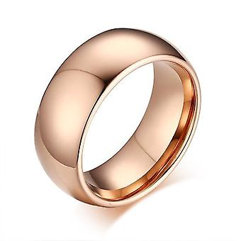 التنغستن الحقيقي ارتفع خاتم الزفاف الذهب