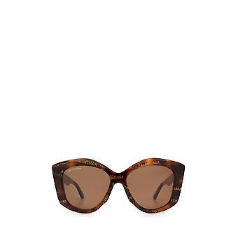Balenciaga BB0126S havana female sunglasses