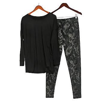Carole Hochman Women's Feather Soft Jersey Lounge Set Black A381870