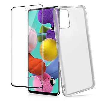 Galaxy A51 Hard Cover and 4Smarts Tempered Glass 9H Screen protector clear