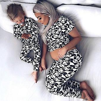 Jarné rodinné zodpovedajúce matka dcéra syn oblečenie, Pyžamá obleky