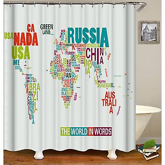 The World In Words Shower Curtain