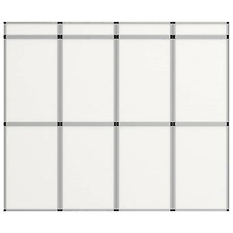 vidaXL 12-panel exhibition wall folding display 242×200 cm White