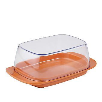 Mepal Plastic Butter Dish, Coral