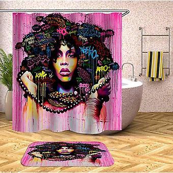 Rosa afro kvinde Shower gardin