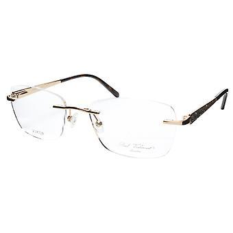 Paul Vosheront Eyeglasses Frame PV503 C01 Gold Plated Acetate Italy 52-17-135 36