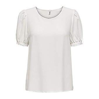 Vain ONLKARMA Life 2/4 Solid Top Wvn T-paita, Cloud Dancer, L Nainen