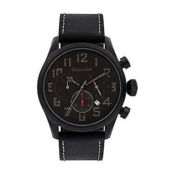 Gigandet G4-007 - Men's watch, leather strap, color: black