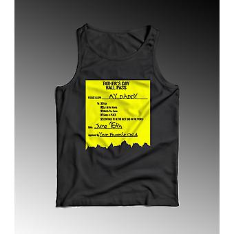Father's Day Hall Pass Muscle Tank Shirt